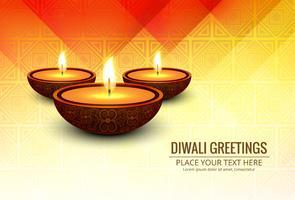 Vackert hälsningskort för festival av diwali firande desig