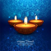 Ejemplo feliz del fondo del festival de la lámpara de aceite del diya de Diwali vector