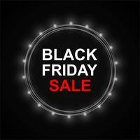 Abstract black friday sale poster design vector