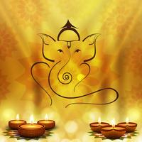 Happy diwali diya oil lamp festival background illustration vector