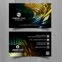 Abstract stylish mosaic business card template design