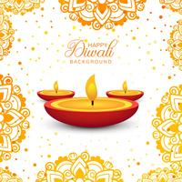Decorative Happy Diwali background vector