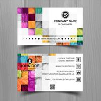 Abstract stylish wave business card template design vector