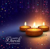 Elegant glänsande lycklig diwali festival bakgrund