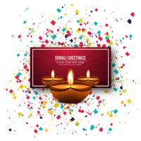 Abstract Happy Diwali festival card background vector