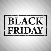 Vecteur de conception affiche abstrait vente vendredi noir