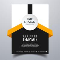 Modern stylish buisness brochure card template vector