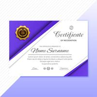 Abstract creative certificate of appreciation award template des
