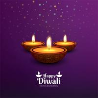 Vector illustration or greeting card of Diwali festival backgrou