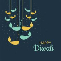 Abstract Happy Diwali colorful decorative background