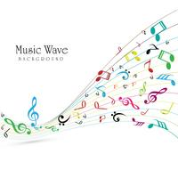 Abstract music colorful wave background vector
