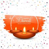 Happy diwali diya oil lamp festival celebration background