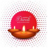 Beautiful Happy diwali diya oil lamp festival background illustr