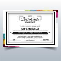 Beautiful certificate template design