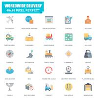 Simple Set of Delivery Related Vector Flat Icons