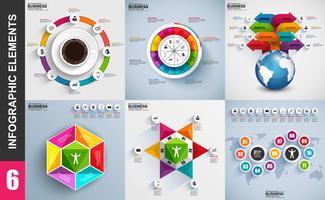 Set of presentation business 3d infographics vector design template