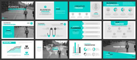 Business Powerpoint Presentation with Infographics