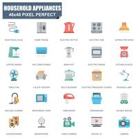 Simple Set of Household Appliances Related Vector Flat Icons