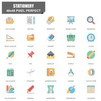 Simple Set of Stationery Related Vector Flat Icons