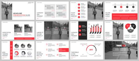 Business presentation powerpoint slides templates from infographic elements.
