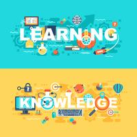 Learning and knowledge set of flat concept vector