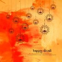 Resumen hermoso feliz Diwali festival saludo fondo