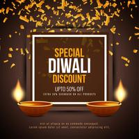 Abstract Happy Diwali discount offer background