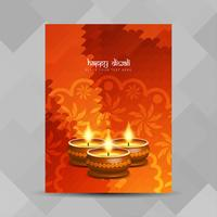 Abstract Happy Diwali festival brochure design