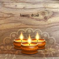 Abstract Happy Diwali wood texture background