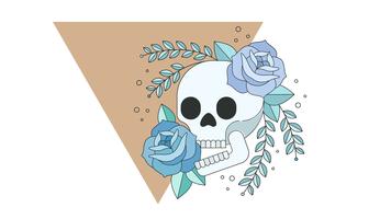 Vector cráneo sonriente