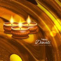 Abstraktes schönes glückliches Diwali Gruß-Hintergrunddesign