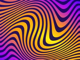 Colorful Wavy Lines Vector Background