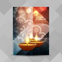 Abstract Happy Diwali brochure design template