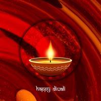 Abstrait beau joyeux festival de Diwali salutation