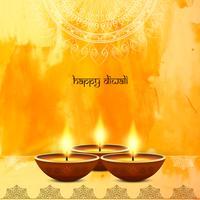 Abstrakter dekorativer glücklicher Diwali Hintergrund