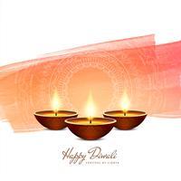 Fundo de aquarela de Diwali feliz abstrato