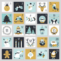 Cute Christmas Countdown Advent Calendar Printable