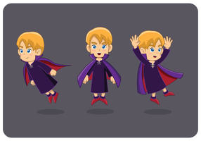Boy with dracula costume
