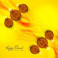 Abstract elegant Happy Diwali religious background