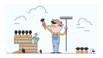 Vecteur d'agriculteur