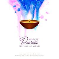 Fondo artístico abstracto feliz Diwali