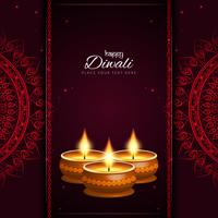 Abstrato decorativo feliz Diwali