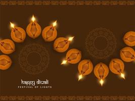 Abstract Happy Diwali religious elegant background vector