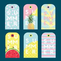 Summer Gift Tag Vector Pack