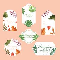 Holiday Gift Tags Vector Pack