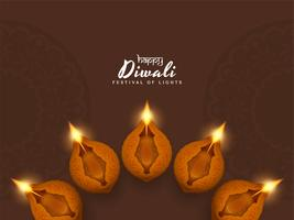 Abstract Happy Diwali religious elegant background