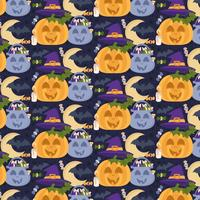 Vector naadloze Halloween-patroon