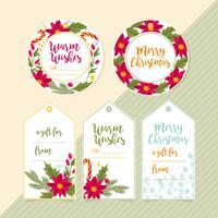 Etiquetas de regalo de Navidad de vector