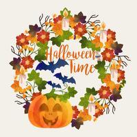 Vector Halloween Themed Wreath