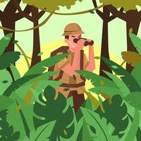 explorateurs de la jungle vector illustration